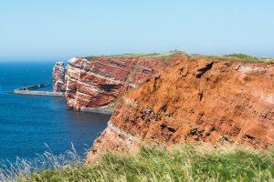 Helgoland-roter Felsen